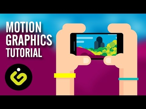 Motion Graphics, After Effect Motion Graphic Tutorial, Hands With Phone