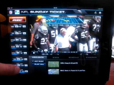 iPAD DirecTV NFL Sunday Ticket Review
