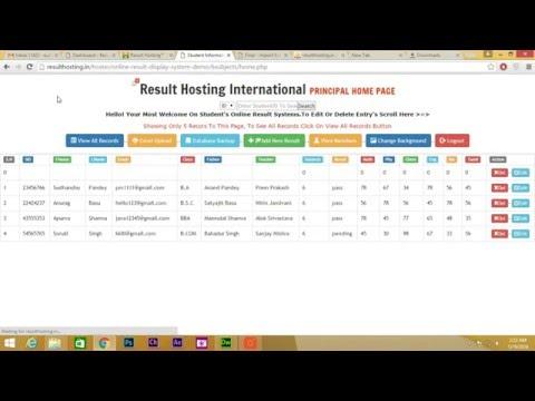 Student Result Management System - PHP Excel (.XLSX) Upload To Database