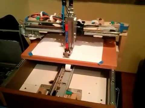 Homemade CNC machine - old printers
