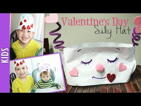 Valentine's Day Silly Hats, Crafts with Kids - The290ss