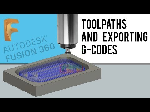 Making TOOLPATHS and exporting G-CODES | Fusion 360 | Quick Tip