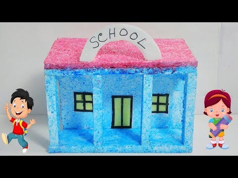 How to Make a Small Thermocol House   Model   School   Best School   Project for Kids (DIY)