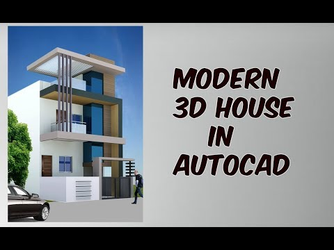 3d house tutorial in autocad easy and fast