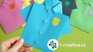 Návod jak složit košili z papíru - přání pro tatínka