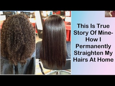 How I Permanently Straighten My Hairs At Home | Perfect Straight Hairs | Home Remedies