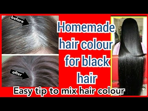 Homemade natural hair dye/colour| 100%safe/ make white hair to black hair
