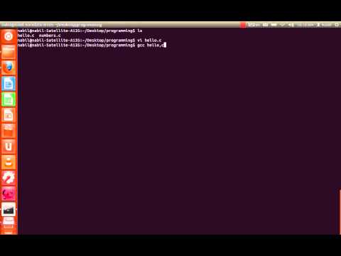 How to Compile and Run a C programm on linux terminal