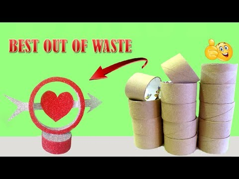 Waste material reuse idea | Best out of waste | DIY arts and crafts | recycling tape rolls