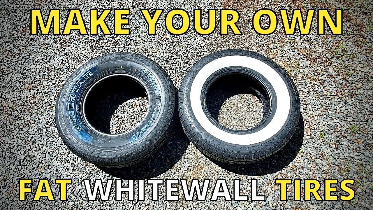 Making Wide Whitewall Tires From White Letter Tires For My Rat Rod Truck