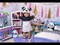 Download American Doll Bedroom for Panda Bears and Dress Up in Doll Room with Panda Toys! MP3,3GP,MP4