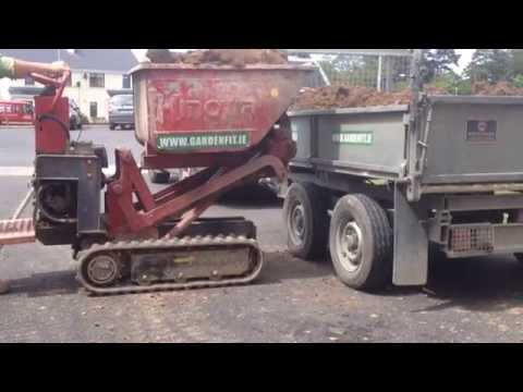 Site Excavation - lawn excavation with micro digger and dumper