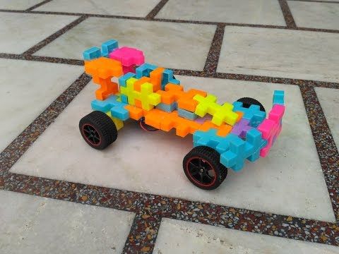 How to make puzzle car electric car
