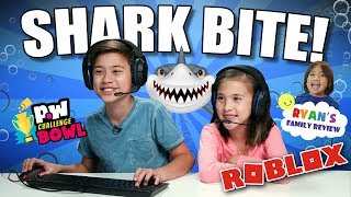 EvanTubeHD VS Ryan ToysReview - ROBLOX SHARK BITE!!! pocket.watch Challenge Bowl 2018!