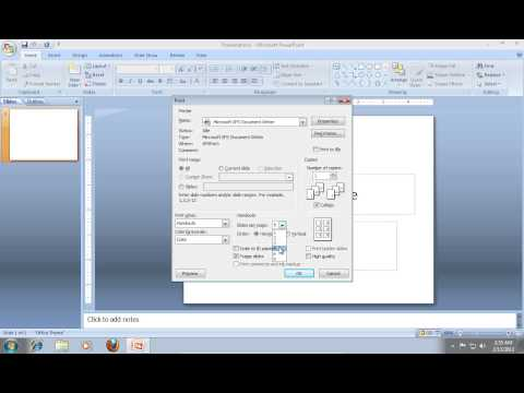 How to Print a PowerPoint 2007 with Multiple Slides on One Page