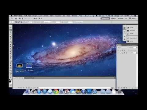 How to Add a GIF to a Still Image - Photoshop CS5 Tutorial (Mac)