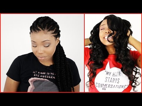Wearing Weaves To Grow Out Natural Hair For Protective Hairstyles!