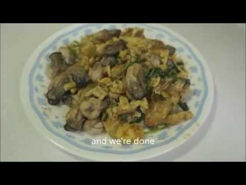 Oyster Omelette Chinese Style