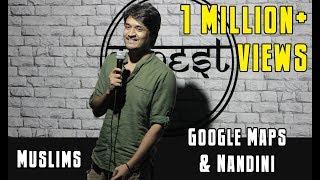 Nandini | Google Maps & Muslims | Standup Comedy | Nasif Akhtar (All India Winner)