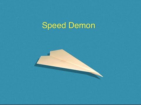 Paper Airplane Tutorial - How To Make Speed Demon