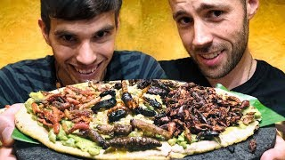 EATING INSECTS with The New Travel  | Traditional Mexican food 2018