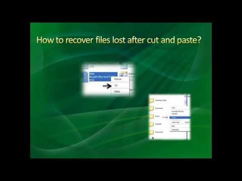 How to Recover Files Lost after Cut and Paste