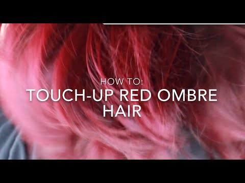 How To: Touch-up Red Ombre Hair   Ion color Brilliance Brights