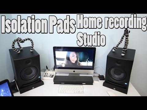 Home Recording Studio Monitors Isolation Pads Adam Hall PAD ECO 2