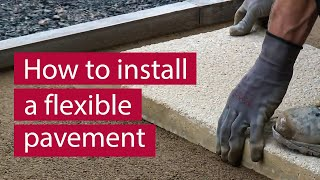 How To Install Concrete Flagblock Paving Flexibly Commercial Paving M
