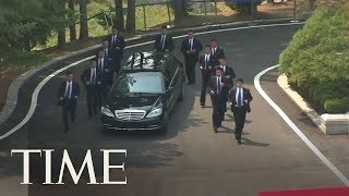 Kim Jong Un Brought 12 Bodyguards Alongside His Limo During His Meeting In South Korea | TIME