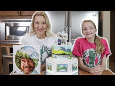 The Making of a Bob Ross Cake