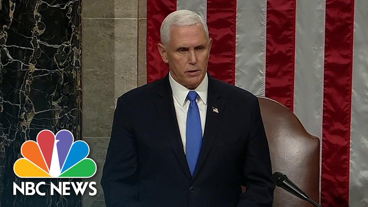 Congress Confirms Biden And Harris Electoral College Win | NBC News
