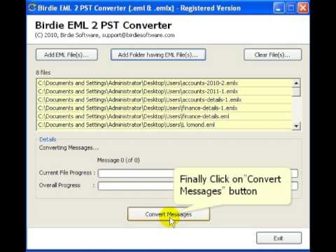 EML to PST Converter to Convert EML & EMLX Files with Total Parts of Email