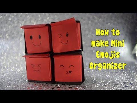 How to make Mini Emojis Organizer - DIY - Emoji Drawer