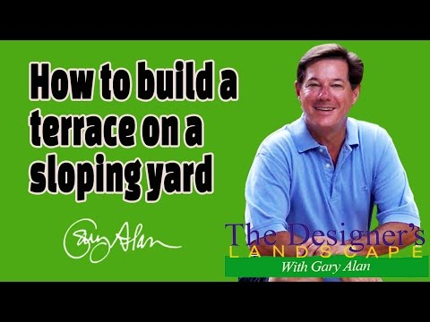 How to build a terrace on a sloping yard DesignersLandscape#620
