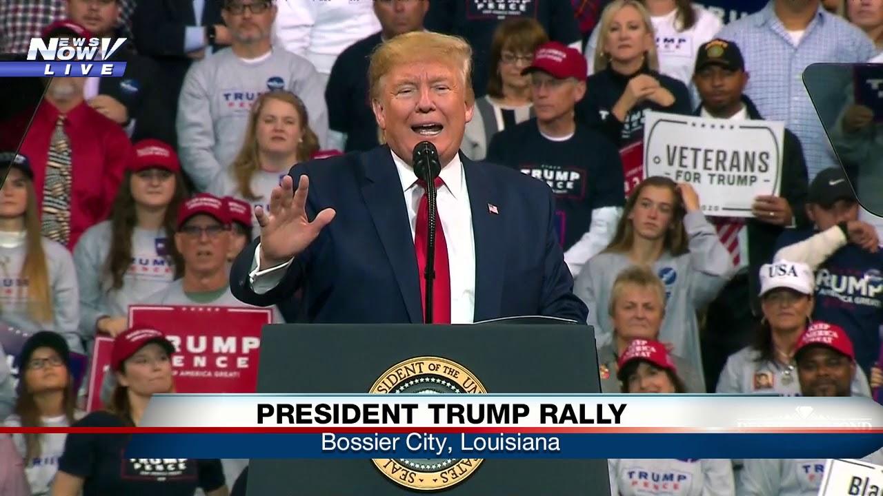 FULL RALLY: President Trump in Bossier City, Louisiana