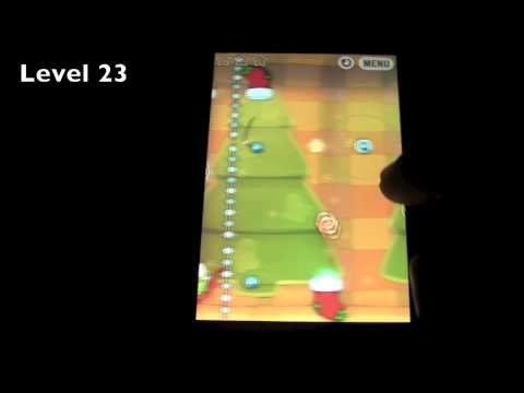 How to Cut the Rope Holiday Gift Box Levels 1-25 3 Star Walkthrough Christmas Edition