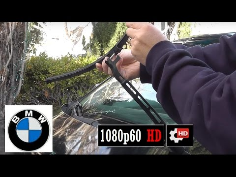 how to replace 2006 BMW 3 series wiper blades