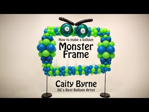 Balloon Monster Frame Photo Op - DIY Step by Step