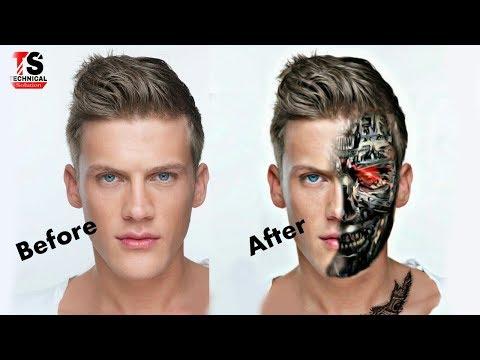 PicsArt Editing Tutorial 2018  How to Make Terminator Face  Best PicsArt Studio Editing in HINDI