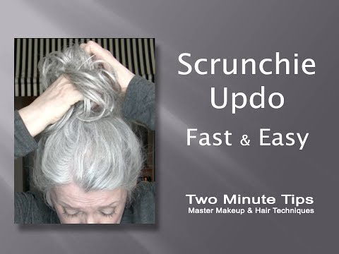 Updo with Scrunchie - Fast & Easy