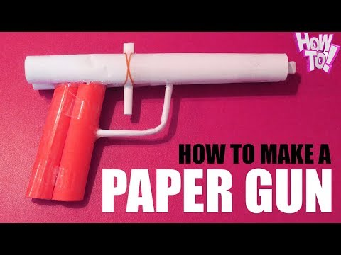 SUPER EASY & FASTLY STEPS 💕 How to make a paper gun 💕