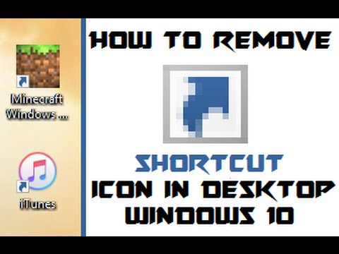 Get Rid Of Shortcut Arrows In Desktop  - Windows 10