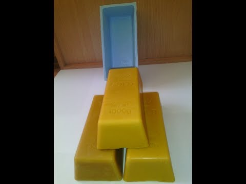 SILICONE MOLD FOR GOLD BAR FROM BEE WAX, SOAP MOLD