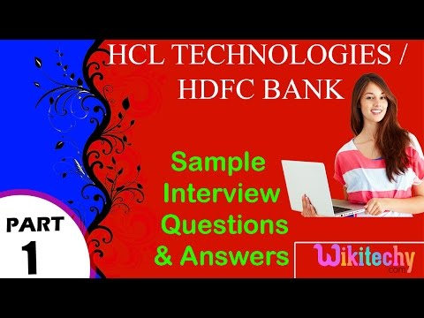 hcl technologies | hdfc bank top most interview questions and answers for freshers / experienced