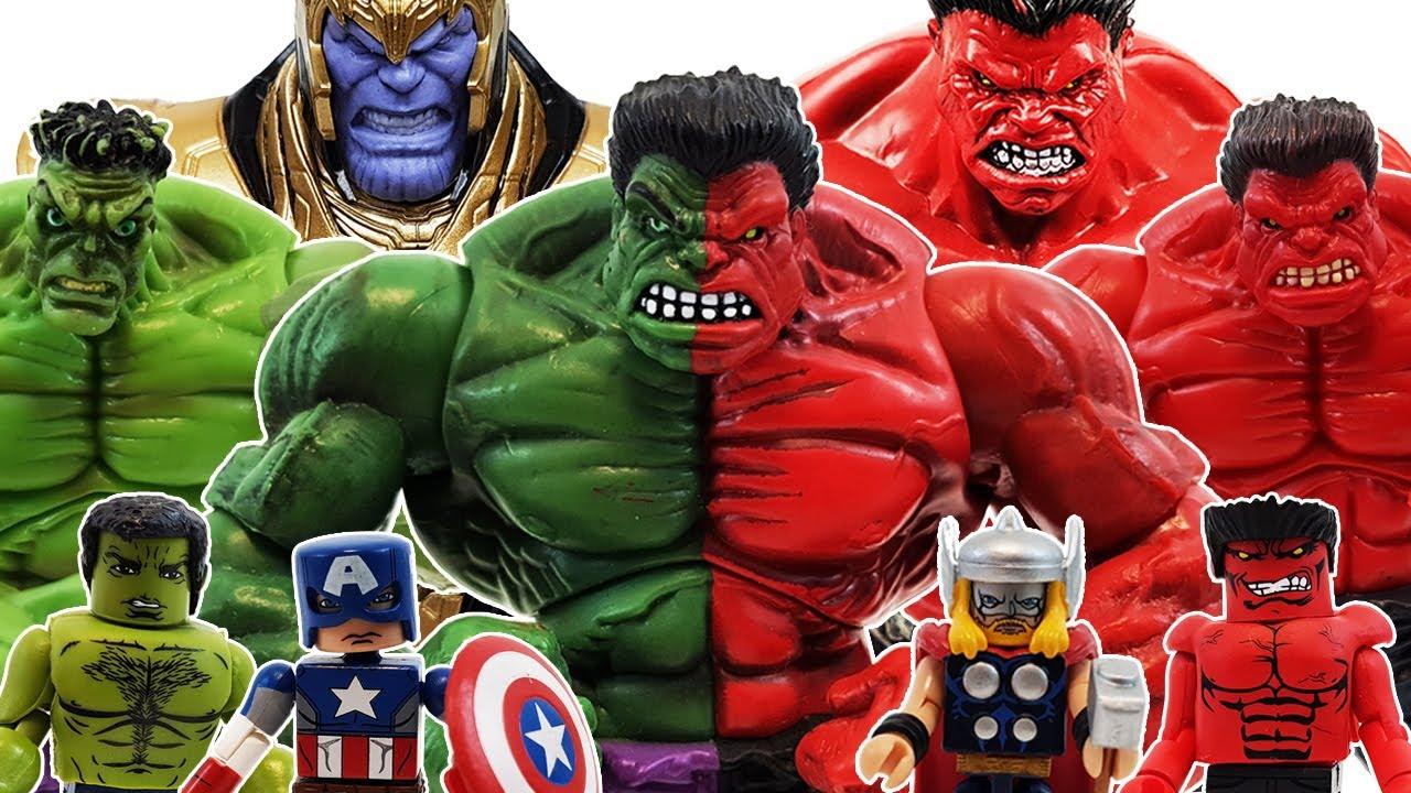 Compound Hulk, Spider-Man, Minimates Avengers Go~! Iron Man, Captain America, Thor, Goblin