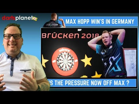 MAX HOPP WINS GERMAN DARTS OPEN - IS THE PRESSURE NOW OFF?