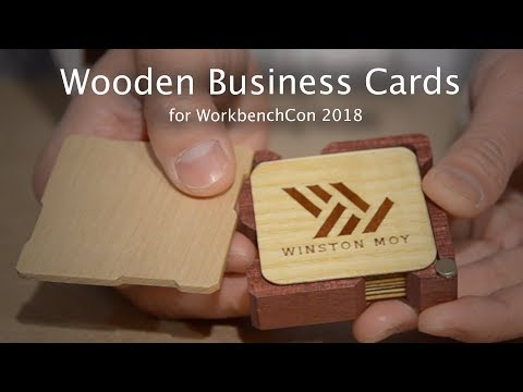 Making Business Cards for WorkbenchCon - Project #113 [CNC & Laser]