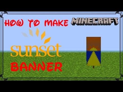 Minecraft | How to make Sunset Banner | MangoMan