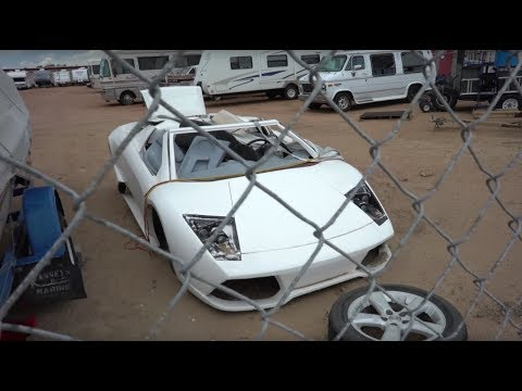 Two 918's and a WRECKED Murcielago Kit Car!